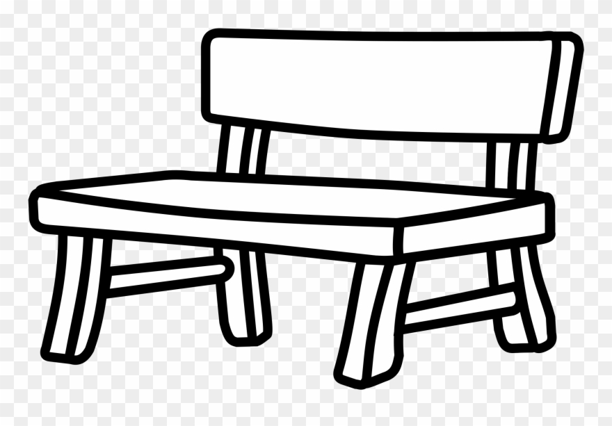 Sitting on a bench clipart black and white svg free library Bench Drawing White Black Park - Bench Clipart - Png ... svg free library