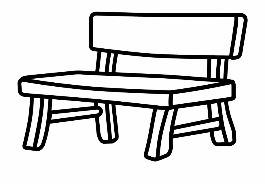 Bench clipart black and white svg transparent download Bank Bench Furniture - Bench Clipart Black And White ... svg transparent download