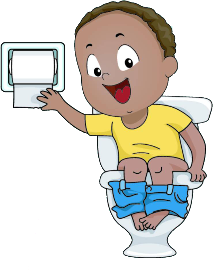 Sitting on bottom clipart vector black and white download Potty Clipart Clip Art - Sitting On Toilet Cartoon - Png ... vector black and white download