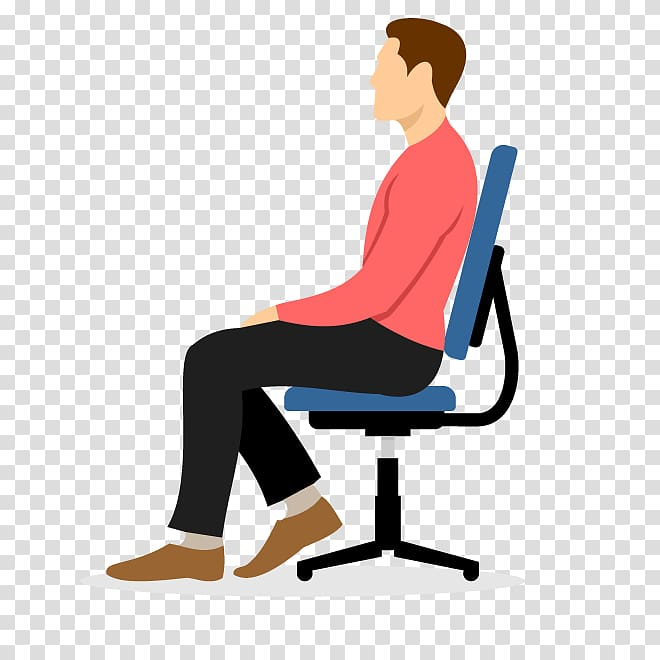 Sitting on chair clipart clip black and white download Man sitting on blue chair , Cartoon Chair , men sitting on a ... clip black and white download