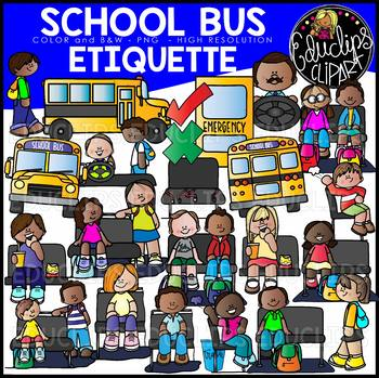 Sitting on the bus clipart jpg transparent library School Bus Etiquette Clip Art Set {Educlips Clipart) jpg transparent library
