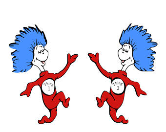 Sitting thing 1 and thing 2 clipart clip royalty free library Thing 1 And 2 | Free download best Thing 1 And 2 on ... clip royalty free library