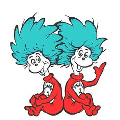 Sitting thing 1 and thing 2 clipart clipart freeuse download Thing 1 And Thing 2 Printable Pictures | Free download best ... clipart freeuse download