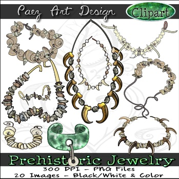 Siwlry clipart graphic free stock Prehistoric Jewelry CLIPART {Paez Art Design} graphic free stock