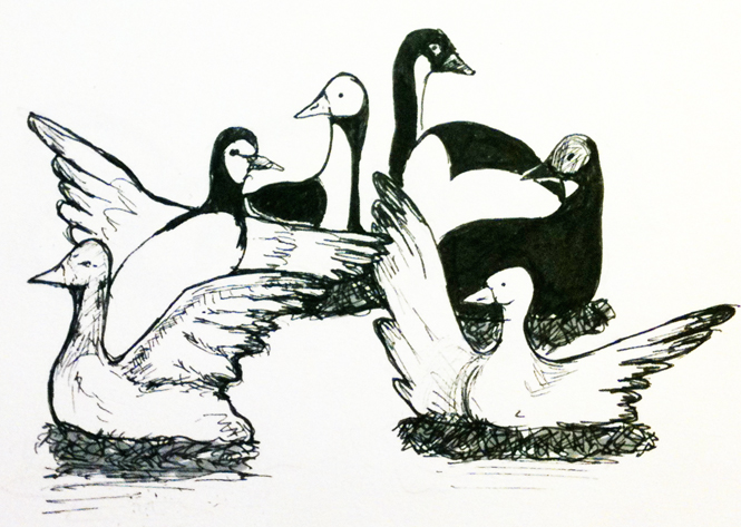 Six geese a laying clipart clip art black and white download Free Images Of Geese, Download Free Clip Art, Free Clip Art ... clip art black and white download