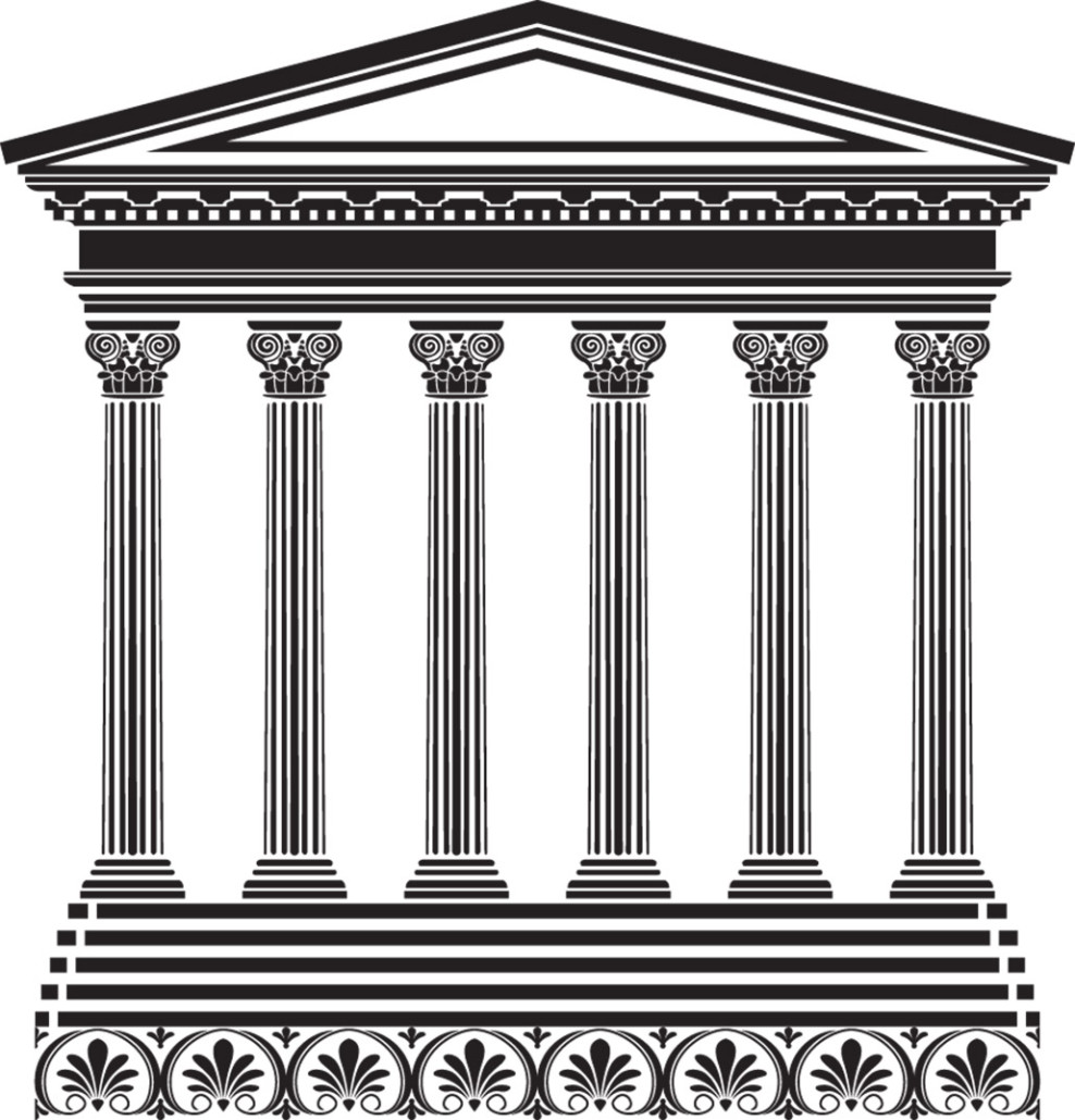Six pillars clipart picture library six pillars | Ken Braddy picture library