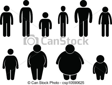 Size clipart clip free library Vector Illustration of Man Body Figure Size Icon - A set of ... clip free library
