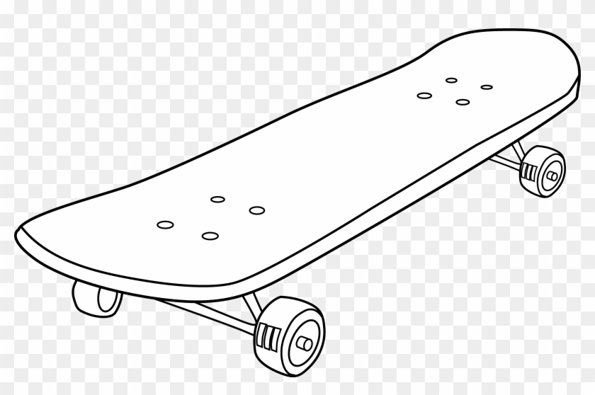 Skate board clipart picture royalty free library Skateboard Clipart - White Skateboard Black Background, HD ... picture royalty free library