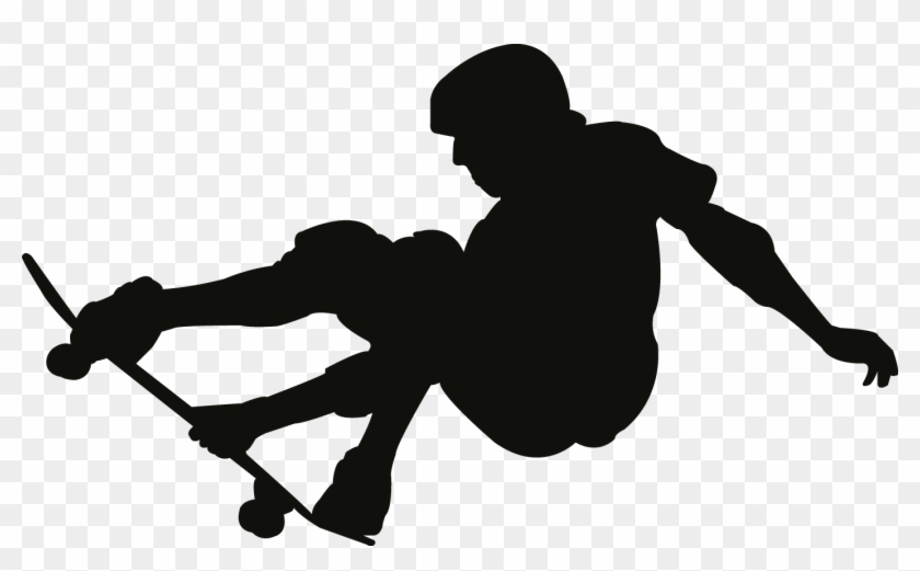 Skateboard deck side view clipart png free download Skateboard Clipart Side View - Skateboard Silhouette Vector ... png free download