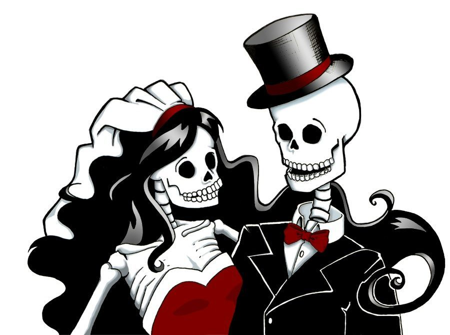 Skeleton bride and groom clipart free download Download skeleton bride and groom clipart La Calavera ... free download