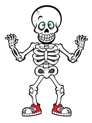 Skeleton clipart for kids picture black and white library Skeleton clip art for kids free clipart images - ClipartBarn picture black and white library