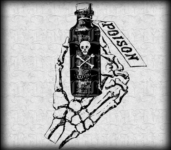 Skeleton clipart hand holding something clipart freeuse download Skeleton Hand Holding Poison Bottle Symbol Vintage Clip Art ... clipart freeuse download
