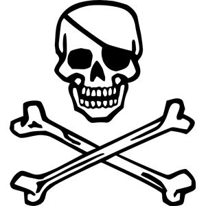 Skeleton crossbones clipart svg freeuse library Skull and Crossbones clipart, cliparts of Skull and ... svg freeuse library