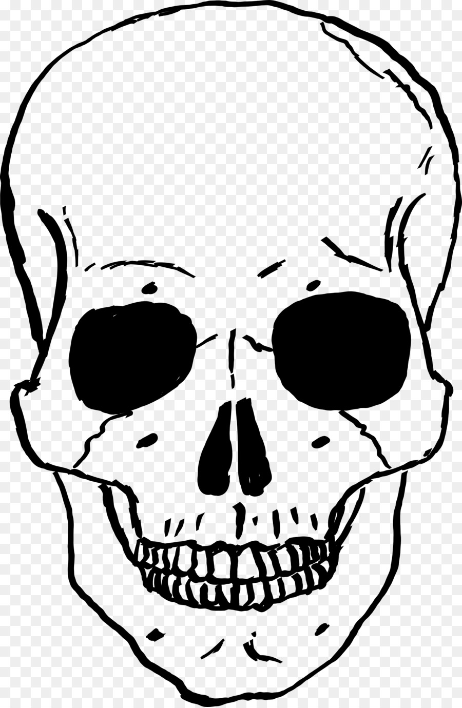 Skeleton face clipart clipart library Human Skull Drawing clipart - Skull, Drawing, Face ... clipart library