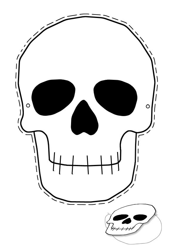 Skeleton face clipart jpg transparent library skull craft | halloween party in 2019 | Skull mask ... jpg transparent library
