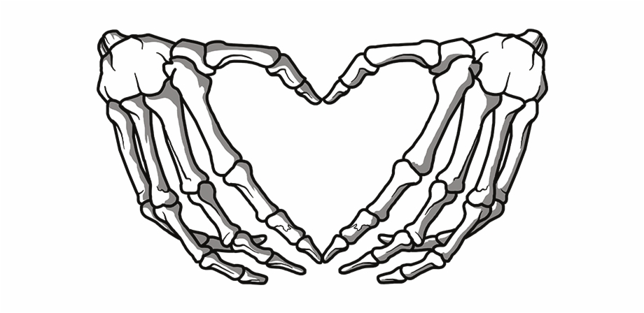 Skeleton hand clipart clipart freeuse download Clipart Skeleton Hands Heart - hand heart png, Free PNG ... clipart freeuse download