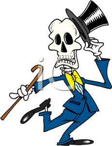 Skeleton holding a cane clipart graphic black and white Top Hat And Cane Clipart | Free download best Top Hat And ... graphic black and white