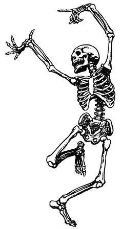Skeleton s clipart clip black and white Vintage Halloween Clip Art Fancy Skeleton Man Skeletons clip black and white