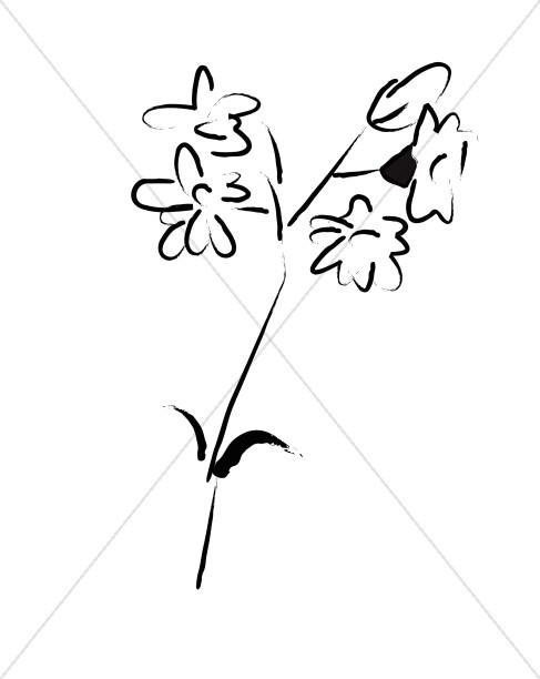 Sketched flower clipart svg freeuse download Simple Flower Sketch   Church Flower Clipart svg freeuse download