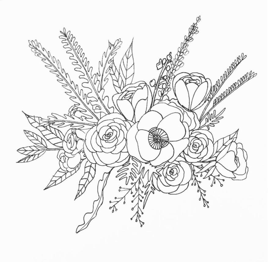 Sketched flower clipart picture download Black And White Flower clipart - Drawing, Flower, Sketch ... picture download