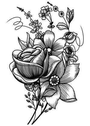 Sketched flowers clipart picture library library Sketch Flower Pictures at PaintingValley.com | Explore ... picture library library