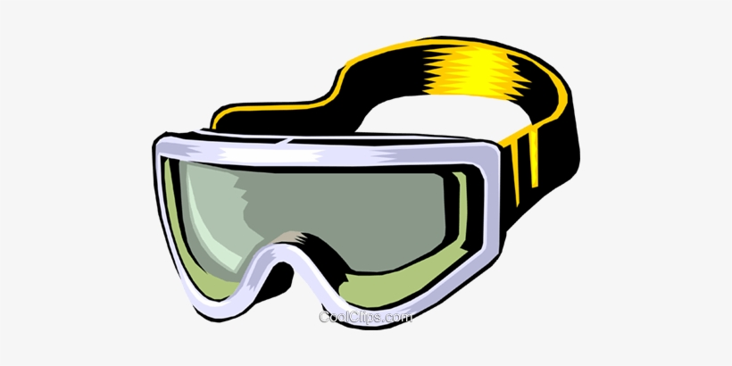 Ski goggles clipart banner black and white download Skiing Goggles Royalty Free Vector Clip Art Illustration ... banner black and white download