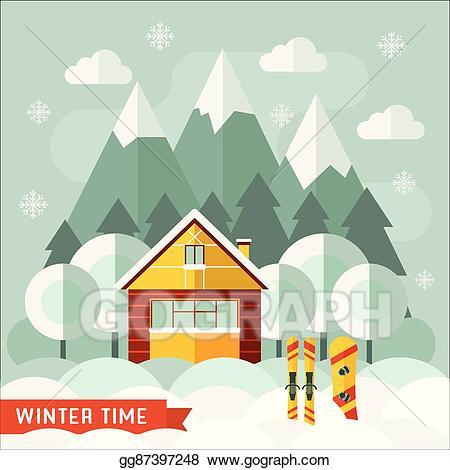 Ski lodge clipart clip library library Ski Lodge Clipart wooden cabin 3 - 450 X 470 Free Clip Art ... clip library library