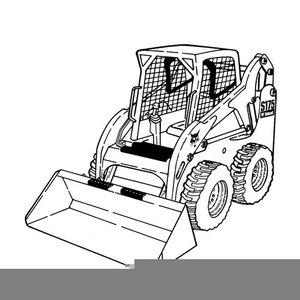 Skid stree images clipart graphic Color Skid Steer Clipart | Free Images at Clker.com - vector ... graphic