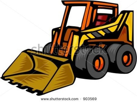 Skid stree images clipart image black and white download Skid steer clipart » Clipart Station image black and white download