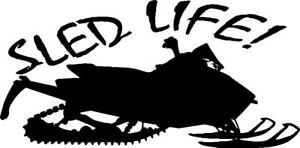 Skidoos clipart free of rights black and white clip art freeuse download Details about Snowmobile Sled life vinyl decal sticker ARCTIC CAT SKIDOO  POLARIS YAMAHA clip art freeuse download