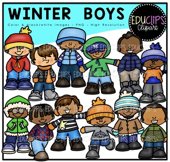 Skiing clipart educlips svg black and white library Winter Clip Art Mega Bundle {Educlips Clipart} svg black and white library