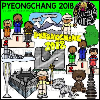 Skiing clipart educlips graphic download Pyeongchang 2018 Clip Art Bundle {Educlips Clipart} in 2019 ... graphic download