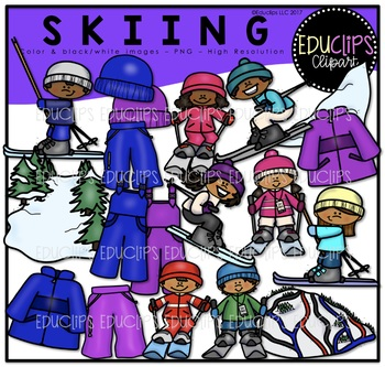 Skiing clipart educlips image download Skiing Clip Art Bundle {Educlips Clipart} image download
