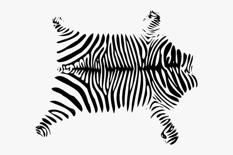 Skin clipart black and white image freeuse African, Skin, Zebra - Animal Skin Clipart Black And White ... image freeuse