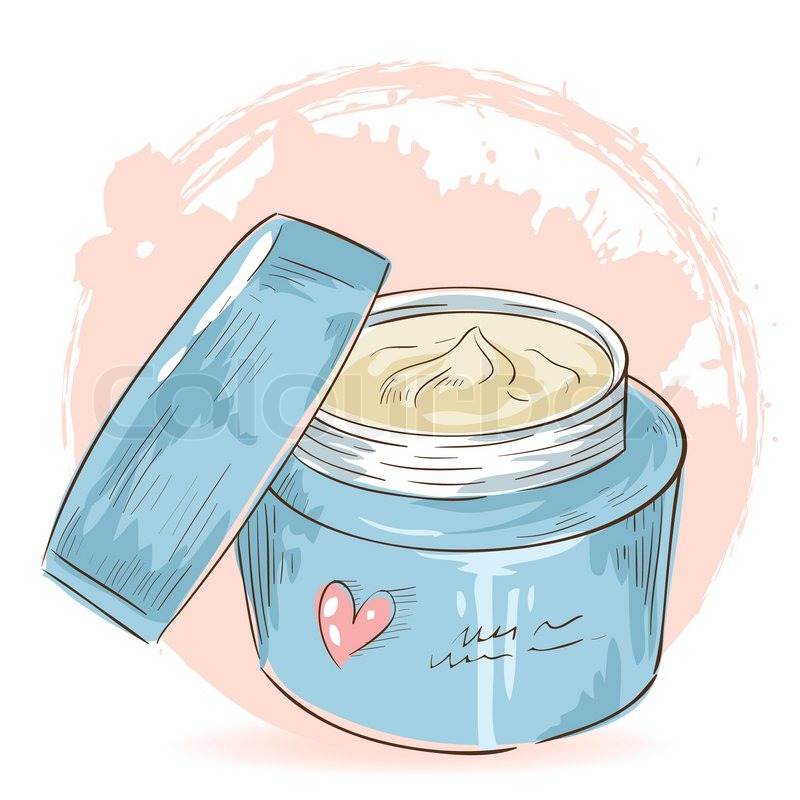Skin cream clipart png transparent stock Skincare make-up cream jar isolated ... | Stock vector ... png transparent stock