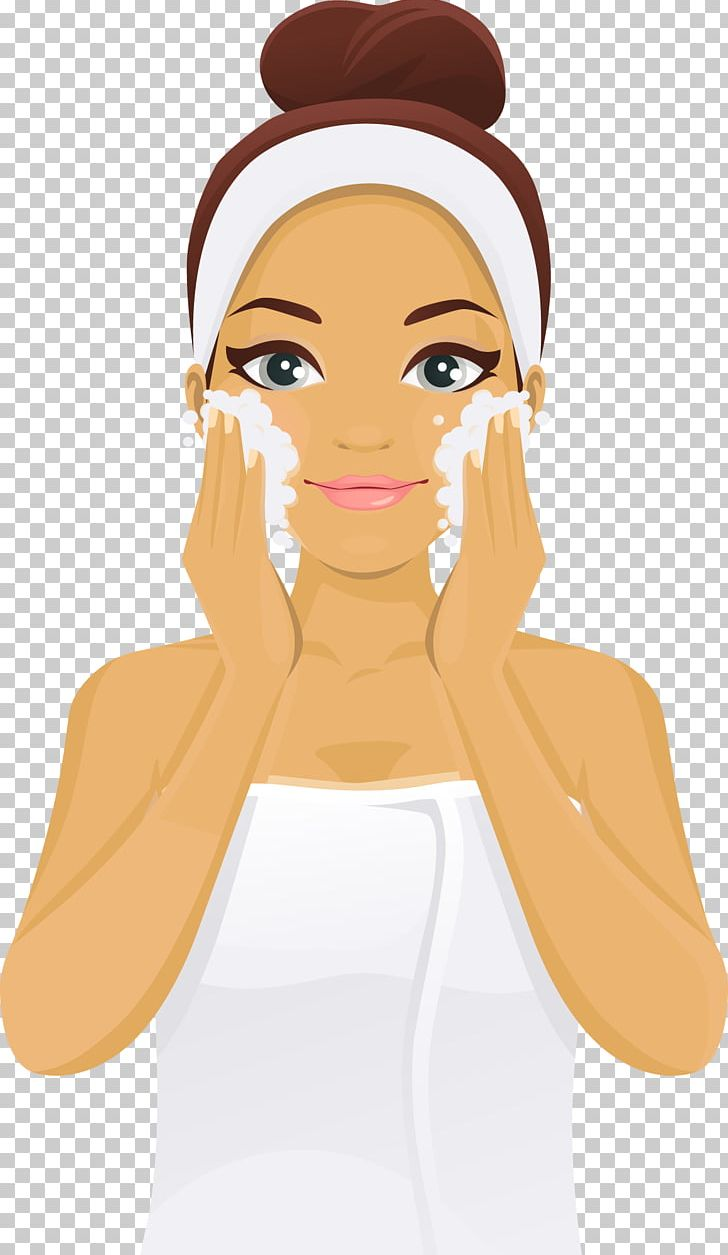 Skincare cartoon clipart vector free Lotion Cheek Skin Care Face Woman PNG, Clipart, Arm, Beauty ... vector free