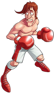 Skinny boxer clipart image royalty free download Glass Joe - Wikipedia image royalty free download
