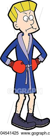 Skinny boxer clipart image freeuse Vector Stock - Puzzled boxer man. Stock Clip Art gg104541425 ... image freeuse