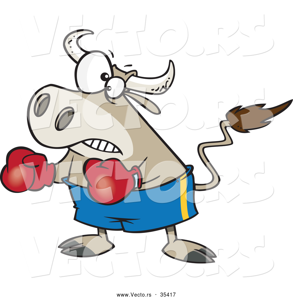 Skinny boxer clipart jpg library download Vector of a Cartoon Bullfighter Bull Boxer Wearing Boxing ... jpg library download