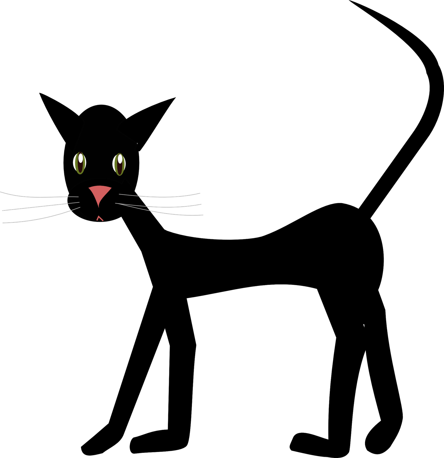 Skinny cat clipart clip art royalty free Tan Cat Clipart - 2018 Clipart Gallery clip art royalty free