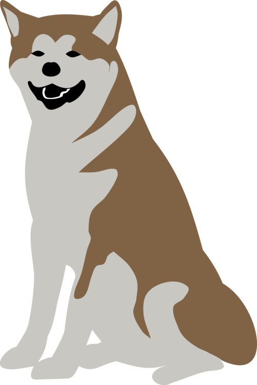 Skinny dog clipart picture black and white download Puppy Dog breed Shiba Inu Alaskan Malamute Pet free commercial ... picture black and white download