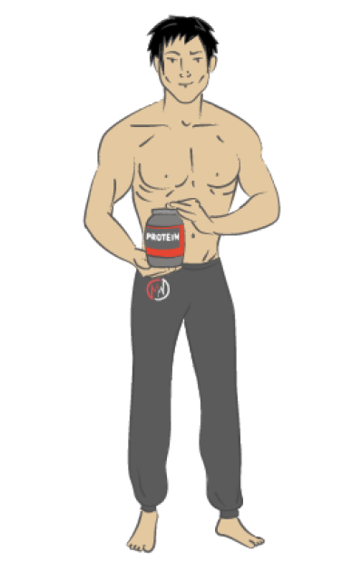 Skinny guy with muscles clipart svg library library Download Free png Best Weight Gainer Supplement for Skinny ... svg library library