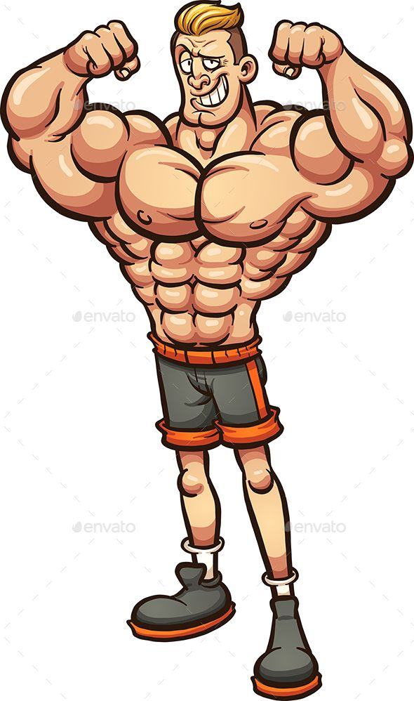Skinny guy with muscles clipart svg free stock Strong man with skinny legs. Vector clip art illustration ... svg free stock