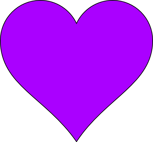 Skinny heart clipart clipart stock Purple Thin Clip Art at Clker.com - vector clip art online, royalty ... clipart stock