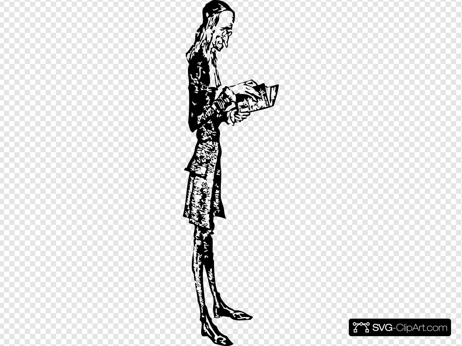 Skinny man clipart vector transparent Skinny Man Reading Clip art, Icon and SVG - SVG Clipart vector transparent