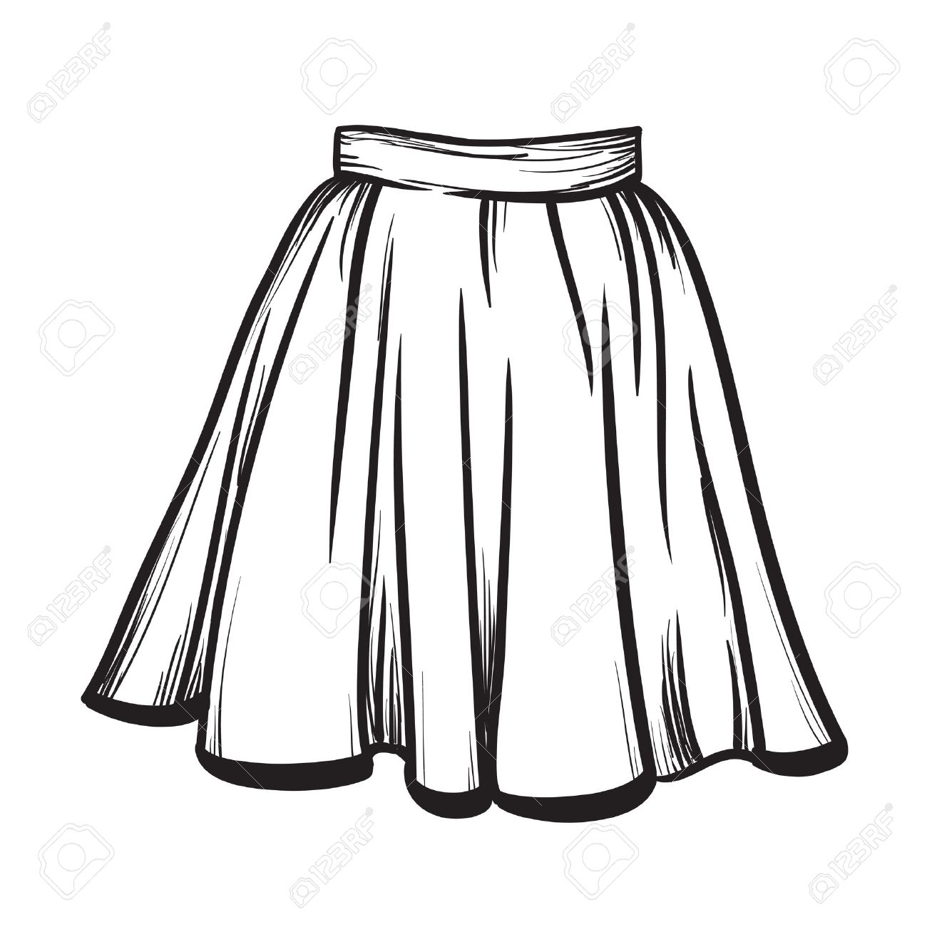 Skirt clipart black and white vector royalty free Skirt black and white clipart 1 » Clipart Station vector royalty free