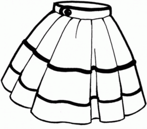Skirt clipart black and white image freeuse library Skirt Clipart | Free download best Skirt Clipart on ... image freeuse library