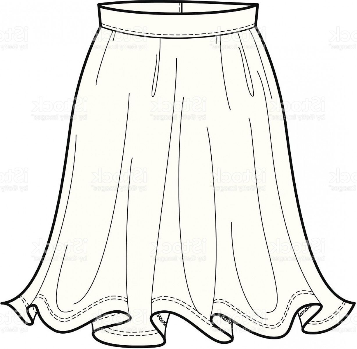 Skirt clipart black and white royalty free Fashion Illustration Of A Flowing Skirt Gm | SOIDERGI royalty free