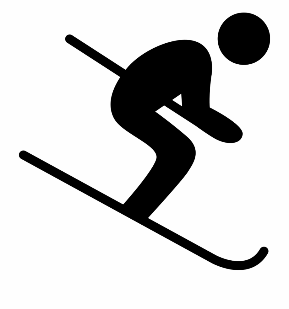 Skking clipart svg black and white library Skiing Clipart Pole - Skiing Icon Png, Transparent Png ... svg black and white library