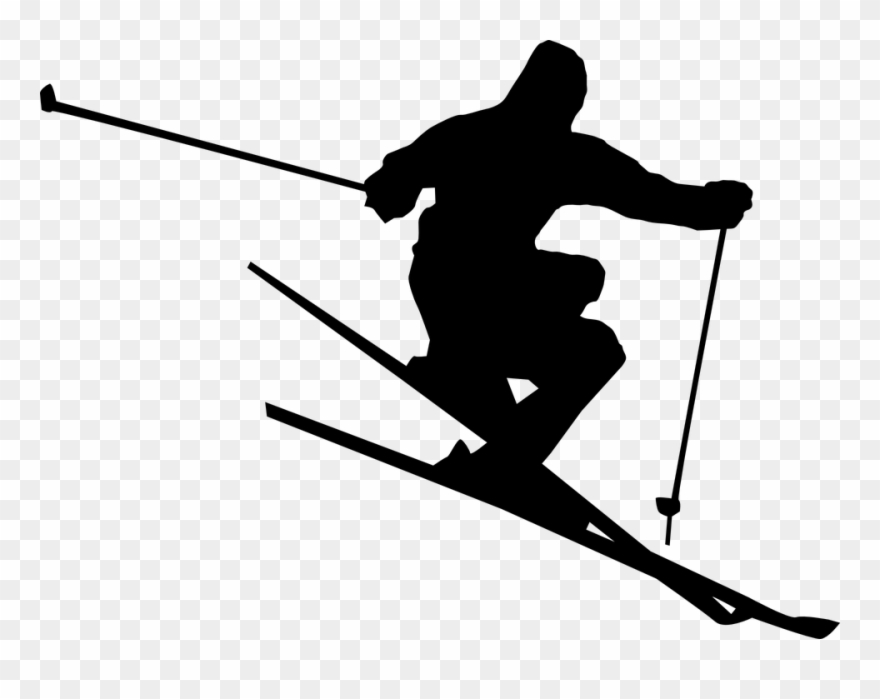 Skking clipart banner free Ski Jump Cliparts 9, Buy Clip Art - Skiing Black And White ... banner free